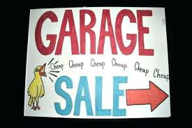 Our Church and town are having a garagesale!!